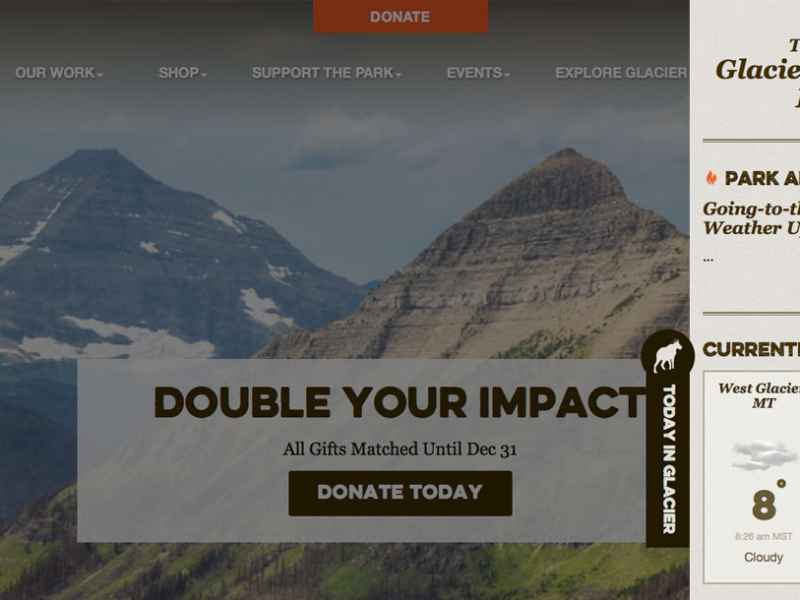 Glacier National Parks Conservancy Welcomes Visitors to Its Online Store