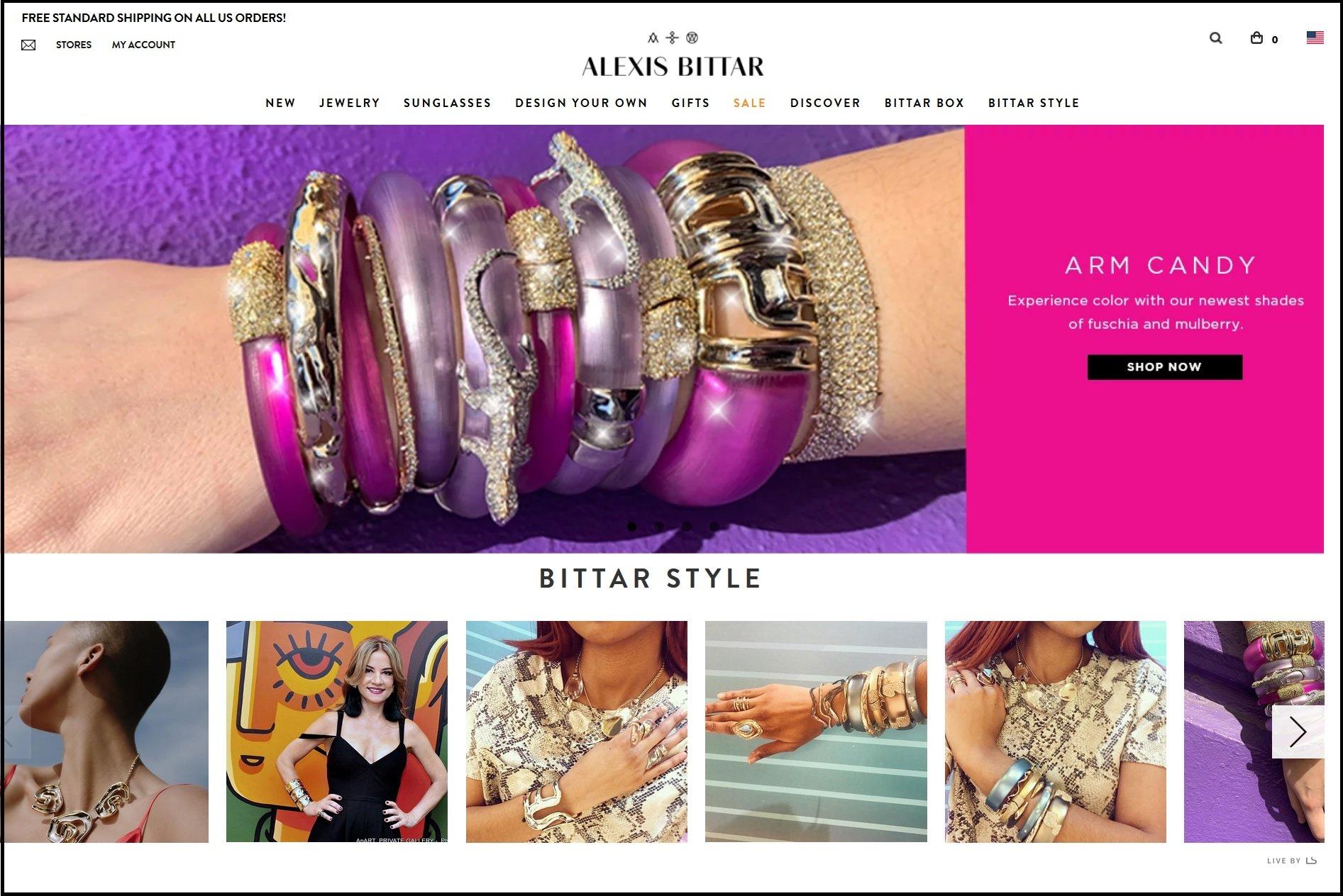 Alexis Bittar Web Site