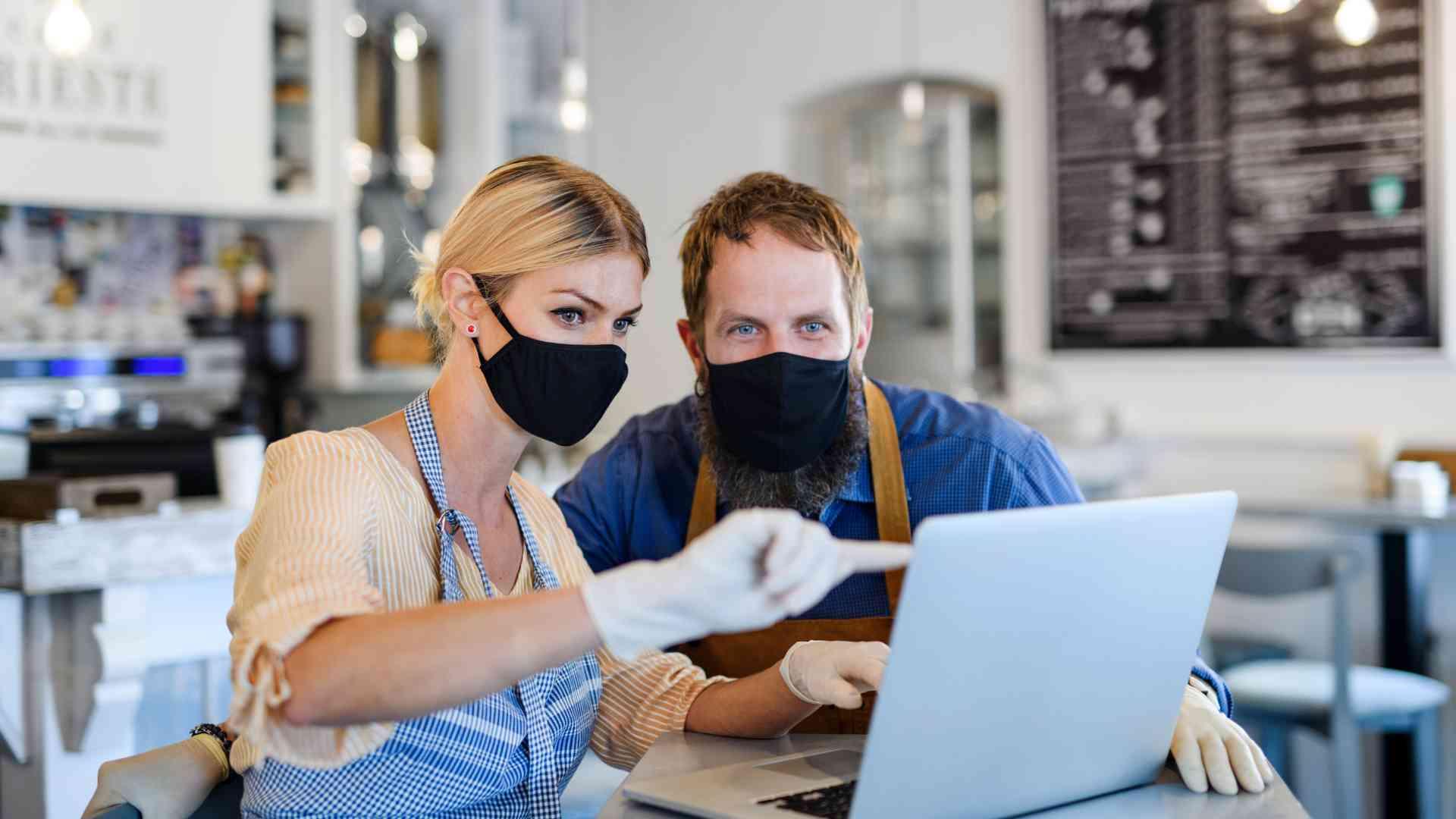 Coffee Shop Owner Retailer Coronavirus Pandemic